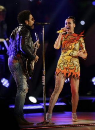 Lenny Kravitz e Katy Parry, Super Bowl de 2015