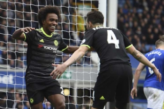 Everton x Chelsea - Willian