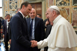 Allegri e o Papa Francisco