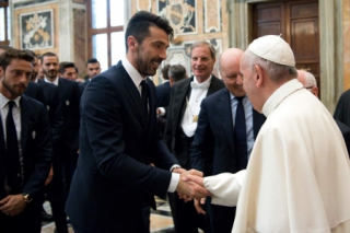 Buffon e Papa Francisco