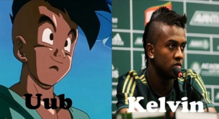 Kelvin e Uub, personagem de Dragon Ball