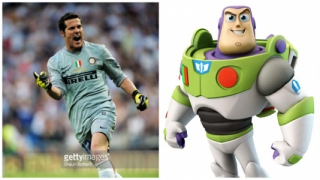 Julio Cesar e Buzz Lightyear, personagem de 'Toy Story'