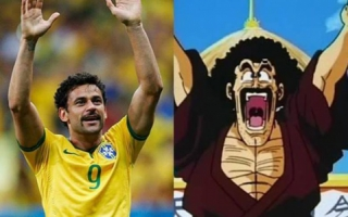 Fred e Mr. Satan, personagem de 'Dragon Ball'