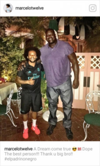 Marcelo e Shaquille O'Neal