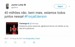 Torcedor do Vasco #ForçaEderson