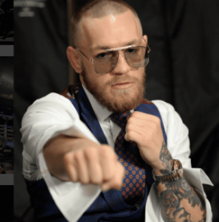 Conor McGregor durante bastidores de superluta