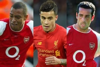 Gilberto (Arsenal) + Philippe Coutinho (Liverpool) + Edu (Arsenal)