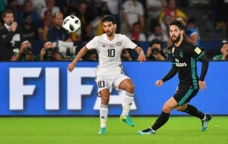 Isco e Boussoufa - Al Jazira x Real Madrid