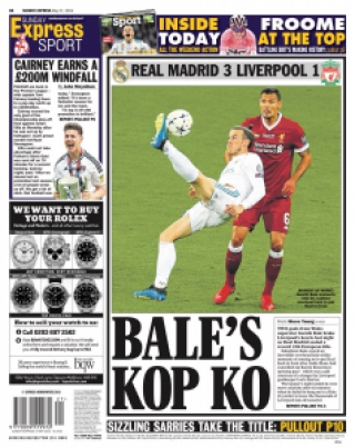 Capa Sunday Express - 27/05/2018
