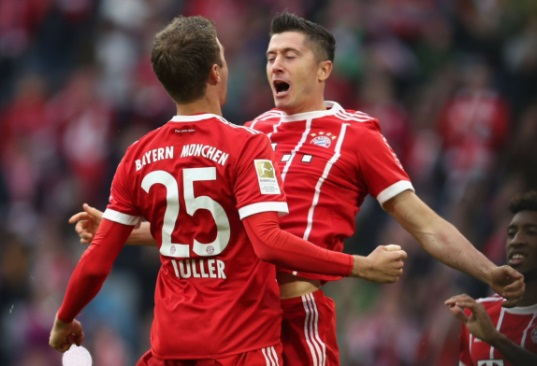 Müller e Lewandowski - Bayern de Munique