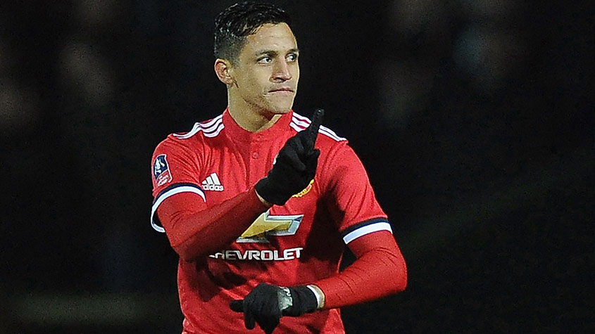 Sánchez - Yeovil Town x Manchester United