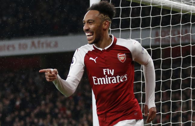 Aubameyang - Arsenal x Everton