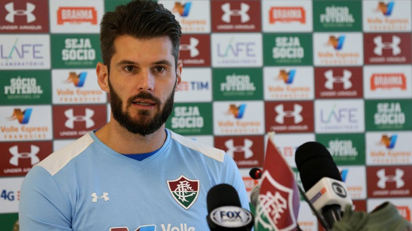 Coletiva do Julio Cesar, do Fluminense