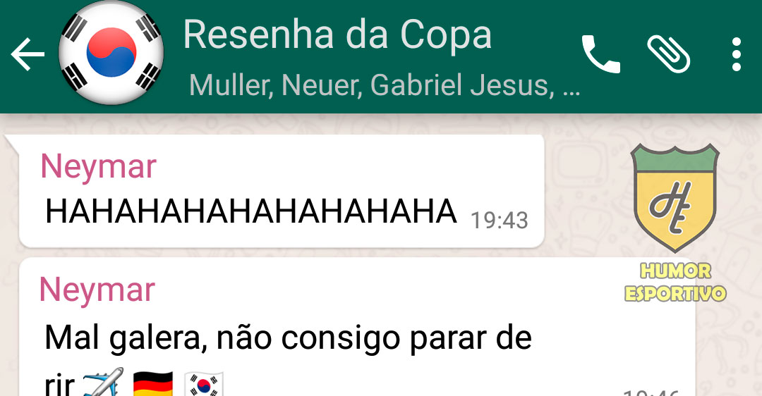 WhatsApp da Zoeira #1 - Copa do Mundo
