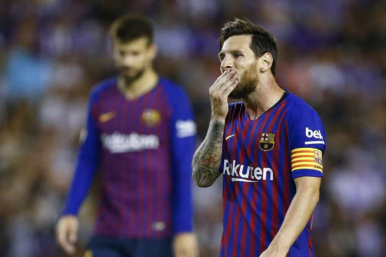 Messi - Valladolid x Barcelona