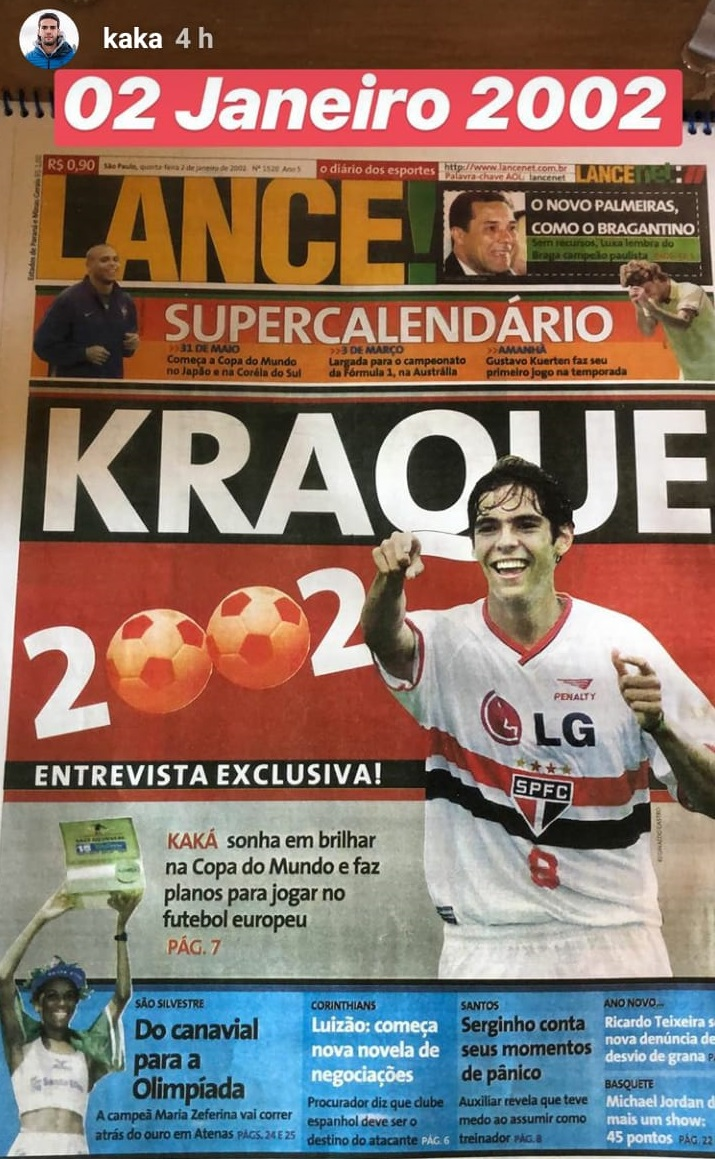 Stories do Kaká - LANCE