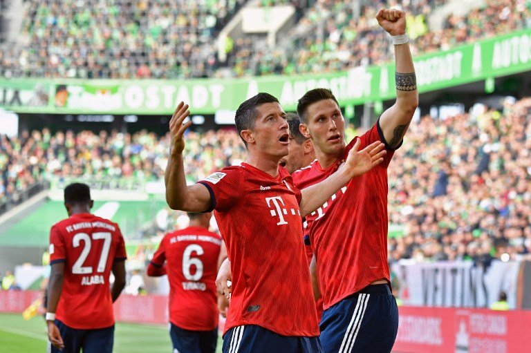 Wolfsburg x Bayern de Munique - Lewandowski