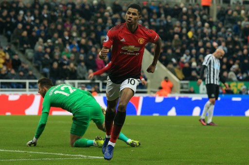 Rashford - Newcastle x Manchester United