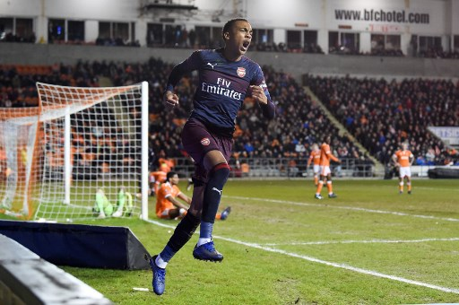 Willock - Blackpool x Arsenal