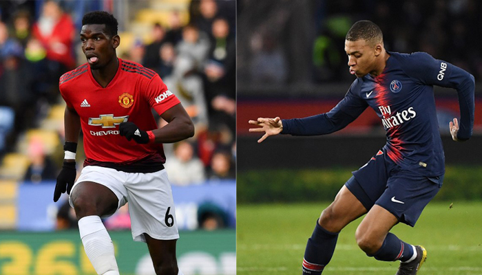 Manchester United x Paris Saint-Germain - Pogba e Mbappé