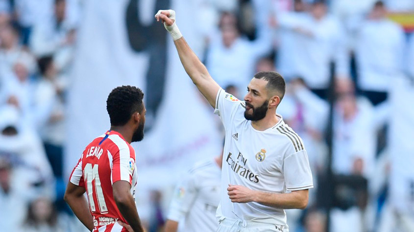 Real Madrid x Atletico de Madrid -Benzema