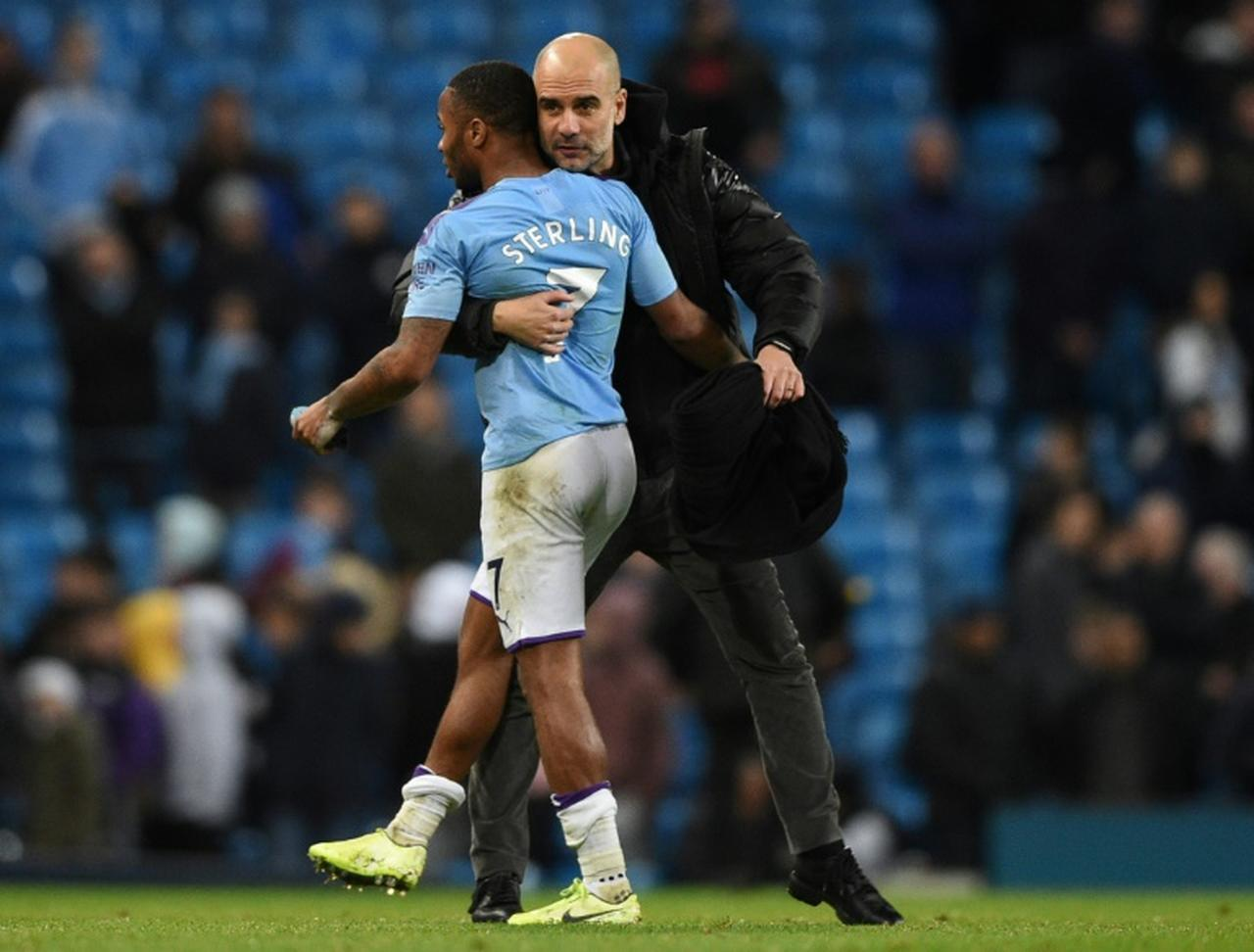 Sterling e Guardiola - Manchester City