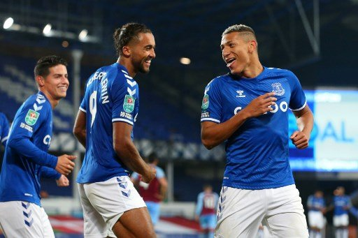 Richarlison e Calvert-Lewin, Everton